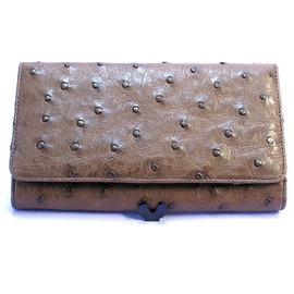 オーストリッチ長財布(ニコチン)