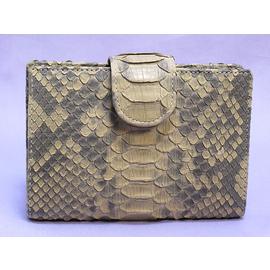 パイソン帯折り財布(ベージュ)