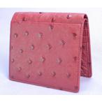 オーストリッチ折り財布(カンパリ)