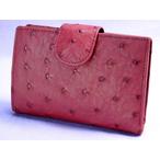 オーストリッチ帯付折り財布(カンパリ)