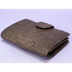 パイソン帯折り財布(チョコ)
